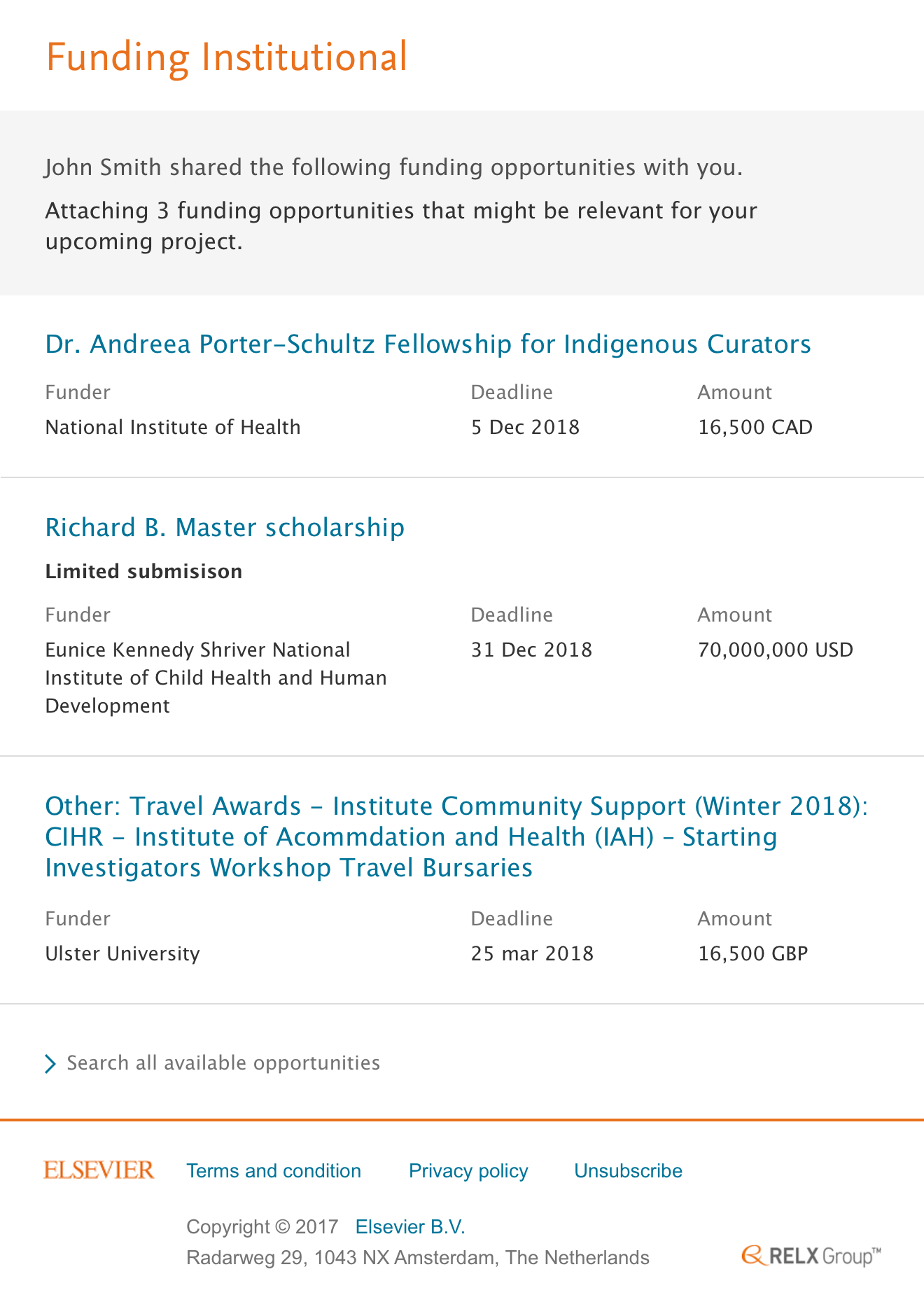 Whom to share the funding opportunities img 2- Releases | Elsevier