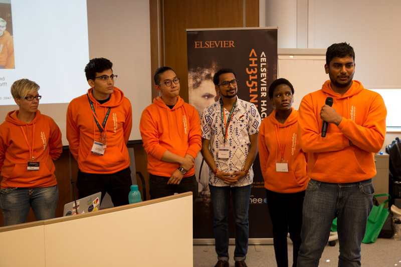 Foresight team photo during Elsevier Hacks