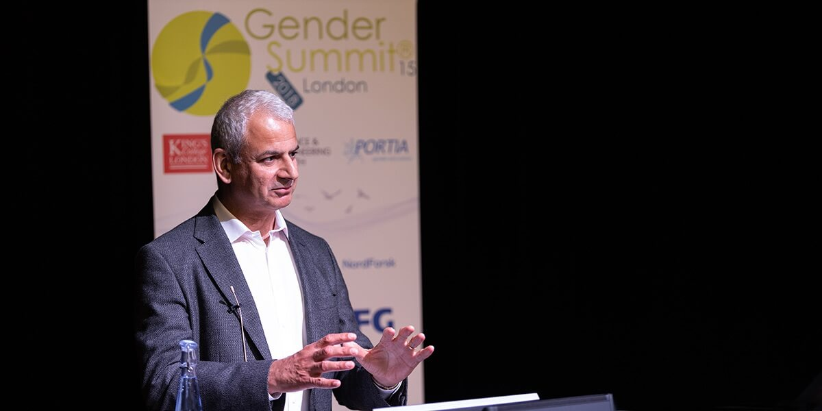 Ron Mobed at Gender Summit