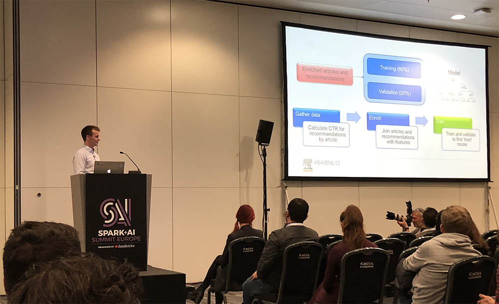 Adam Davidson presents on Apache Spark and production machine learning at the Spark+AI Summit in London.