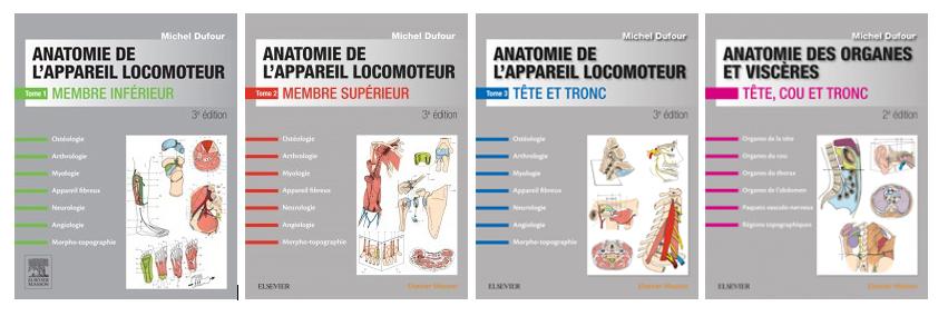 L'ensemble du programme d'anatomie des études de kinésithérapie en 4 tomes_1
