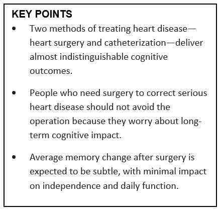 Key points of the study