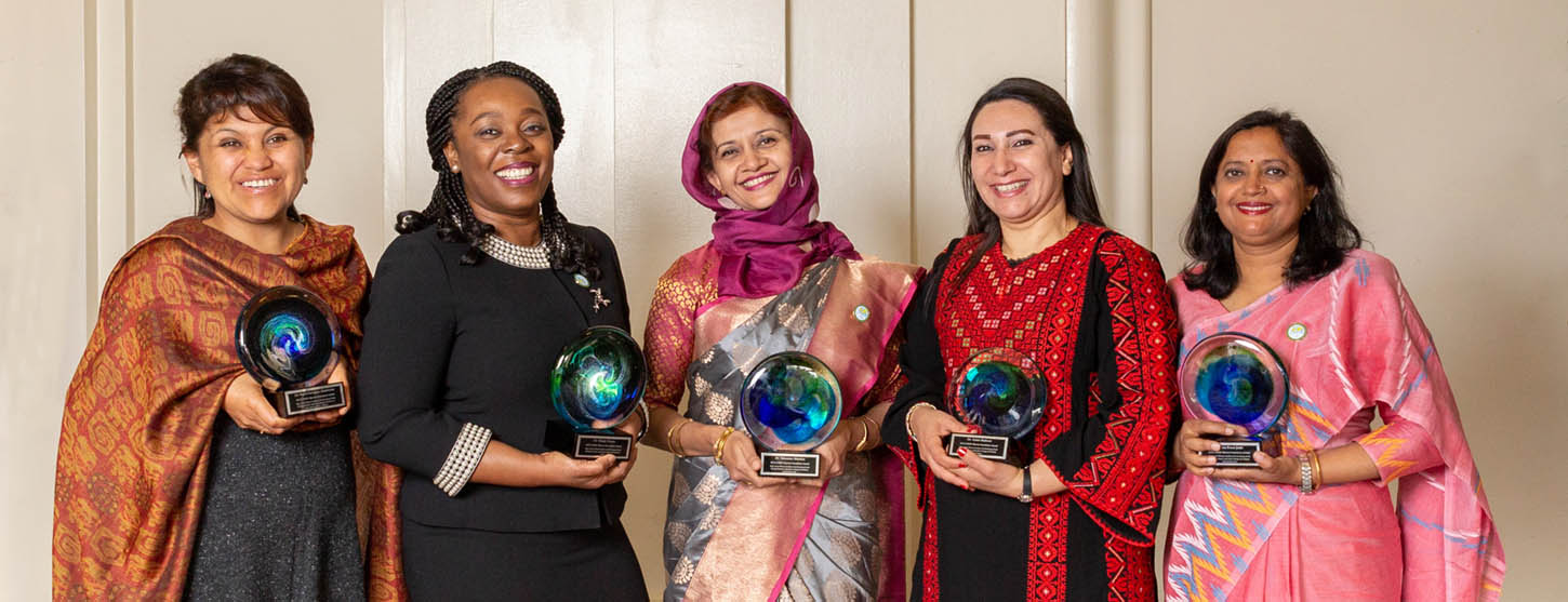 Winners of the OWSD-Elsevier Foundation Award for Early-Careers Women Scientists in the Developing World with their awards following the ceremony at the AAAS Meeting.