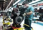 Machine part at a car factory