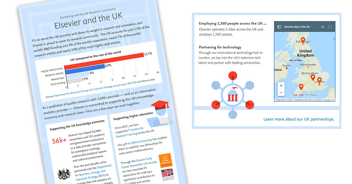 Elsevier and the UK infographic image
