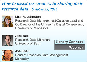 "Webinar: Sharing research data so it really ""counts"""