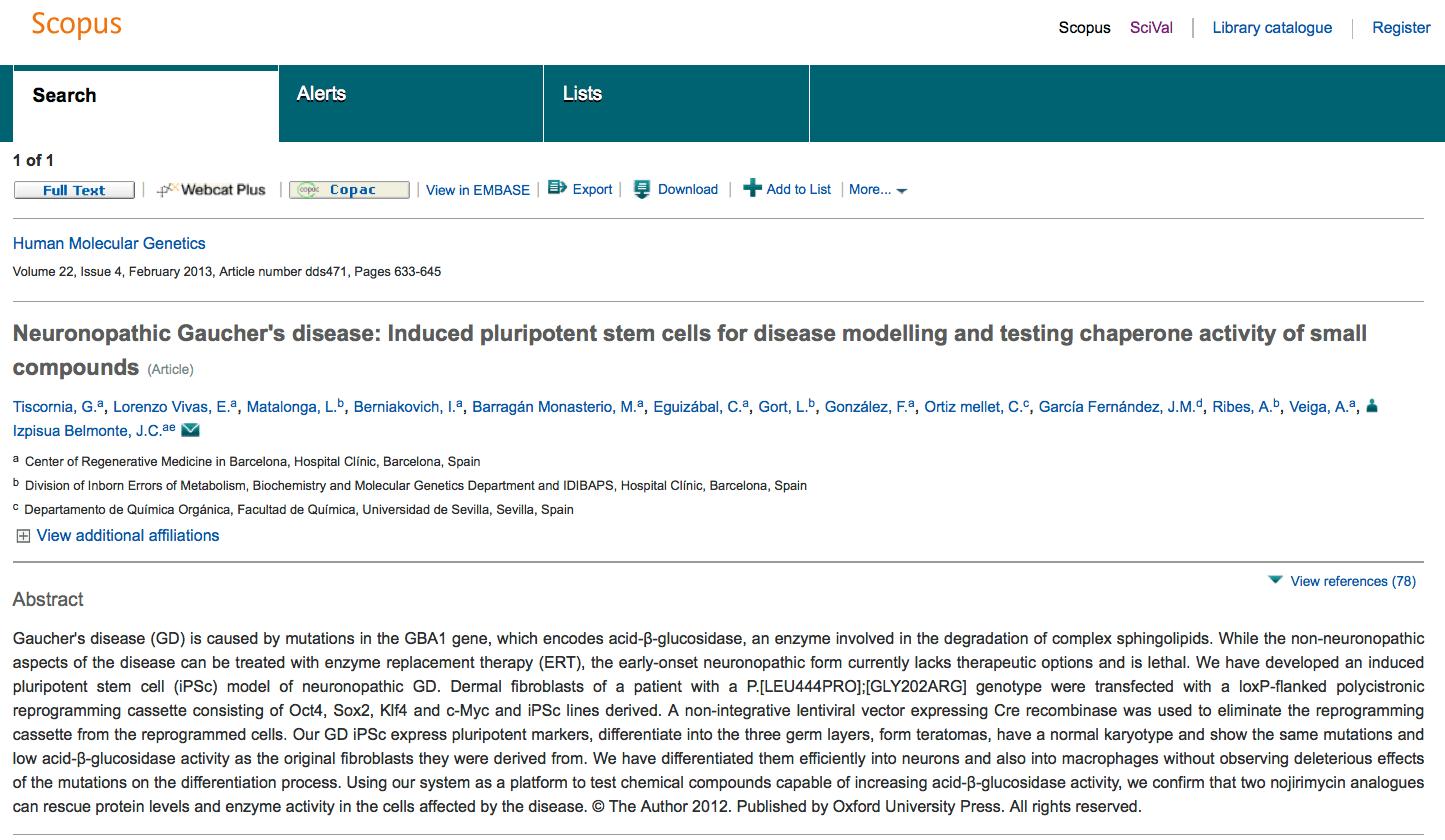 Access Scopus document details for matching publications (2)
