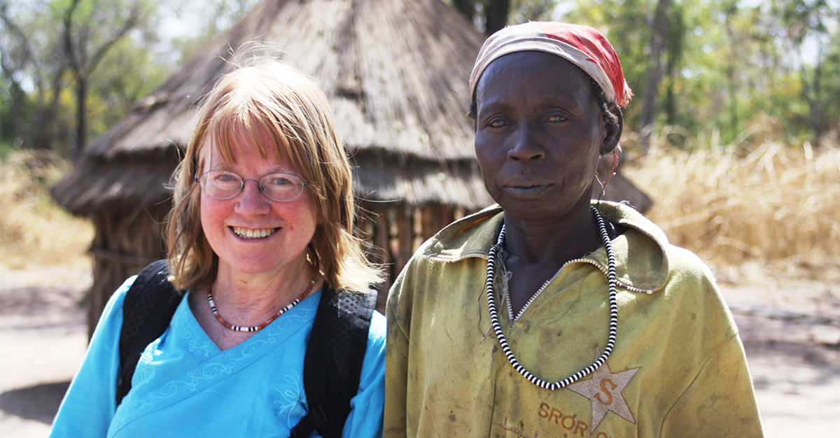Dr. Sylvia Meek in Nundum Wuthuru Uguak, Aweil West County, South Sudan. (Photo courtesy of the Malaria Consortium)