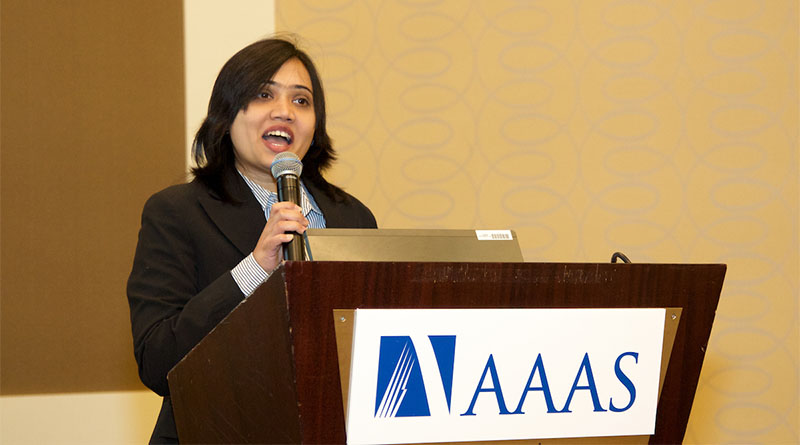 Tanzima Hashem, PhD, Associate Professor in the Department of Computer Science and Engineering at Bangladesh University of Engineering and Technology, talks about the importance of encouraging young women to pursue engineering sciences. (Photo by Alison Bert)