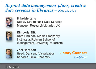 Upcoming webinar: Librarians are launching new data services