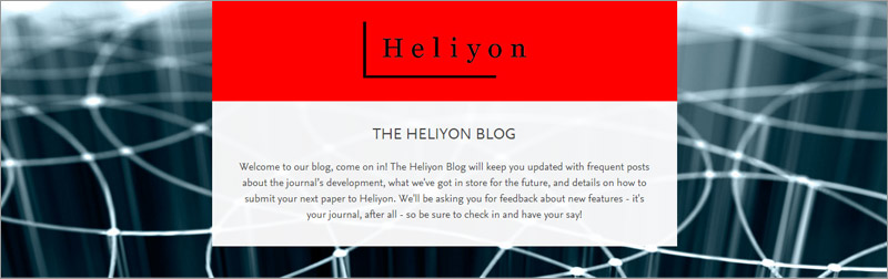The Heliyon blog