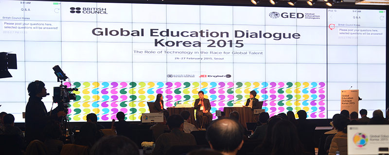 The British Council gathered thought leaders from academia and industry for its Global Education Dialogue 2015. Pictured here are panelists Dr. Halima Begum, Higher Education Director of the British Council; Dr. Minh Quang-dam, Rector of FPT University in Vietnam; and Dr. Sun-hye Hwang, President of Sookmyung Women's University (Photos courtesy of Education UK)