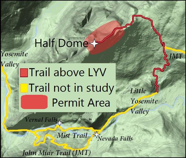 Half Dome Trail map.