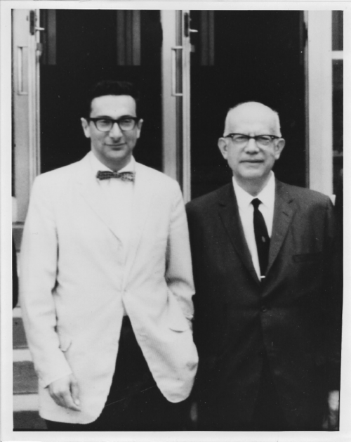 Dr. Noel Rose with his mentor, Ernest Witebsky, ca 1966.