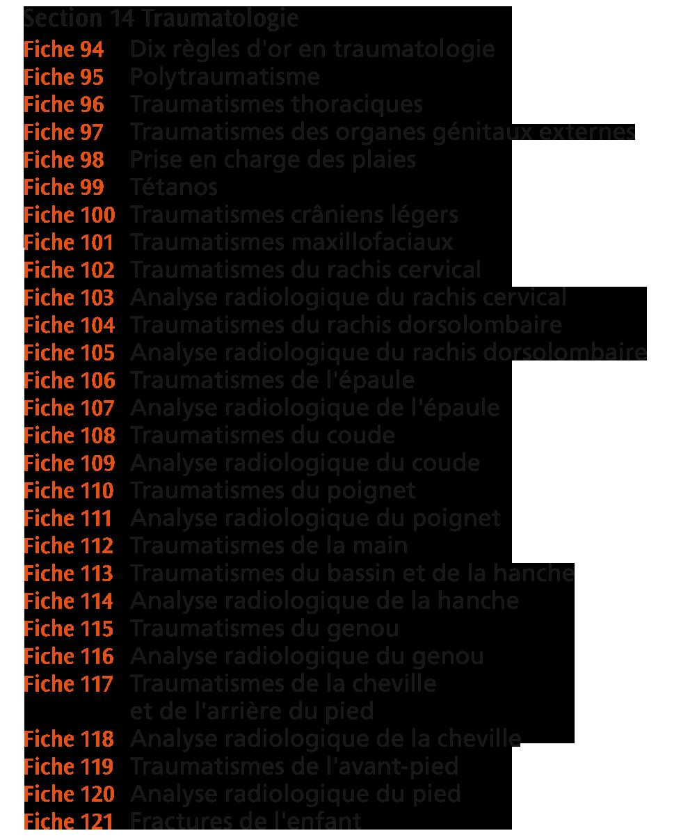 section tramatologie du mega guide