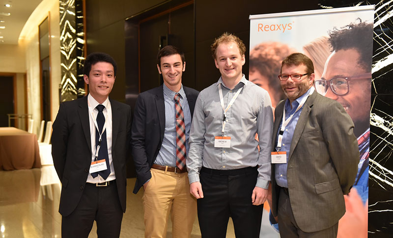 Shin-nosuke Uno, John Telli and Andrew Jupp with Dr. David Evans Scientific Affairs Director, Reed Elsevier Properties SA
