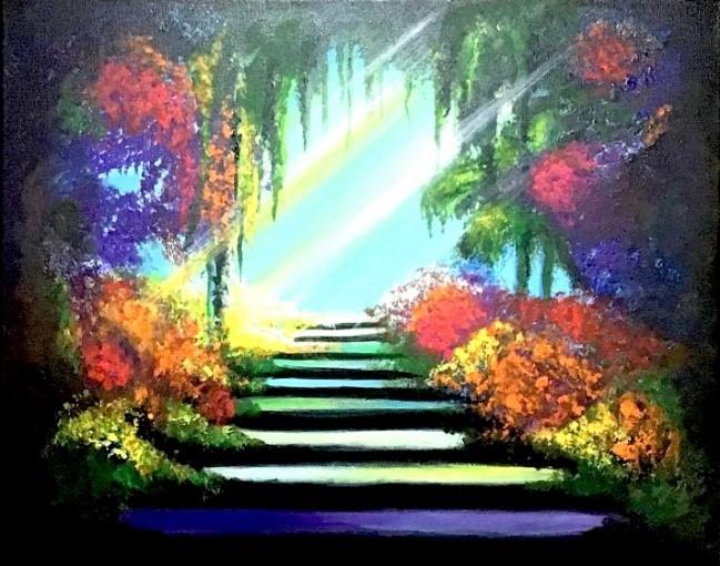 """Light of Life,"" acrylic on canvas (Surya Suriyan, June 2020)"