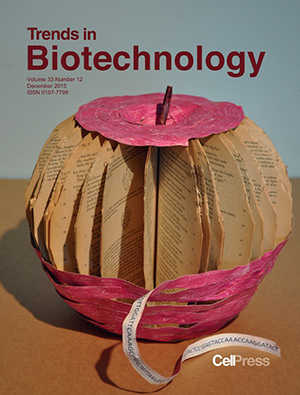 Joe Davis designed the cover of this issue, which features a review of the field of bioart.