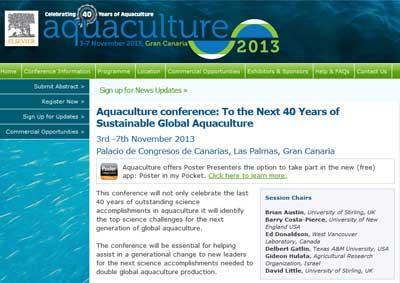 Aquaculture 2013 conference
