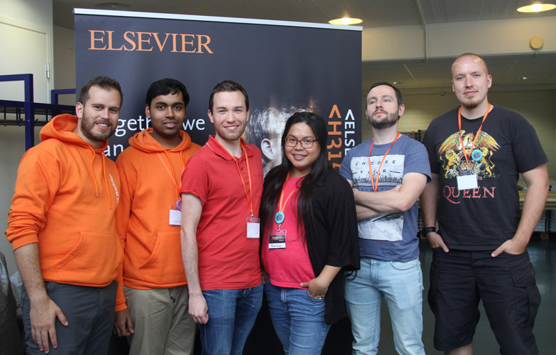 Powercards Team Photo at Elsevier Hacks