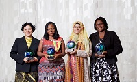 Picture of winners of the Award from the Organization for Women in Science (OWSD) and the Elsevier Foundation