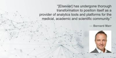 """Bernard Marr on """"the amazing digital transformation of Elsevier from publisher to tech company"""""""