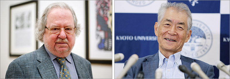 "James P. Allison and Tasuku Honjo were awarded the 2018 Nobel Prize in Physiology or Medicine ""for their discovery of cancer therapy by inhibition of negative immune regulation."" (Credit: ANP)"