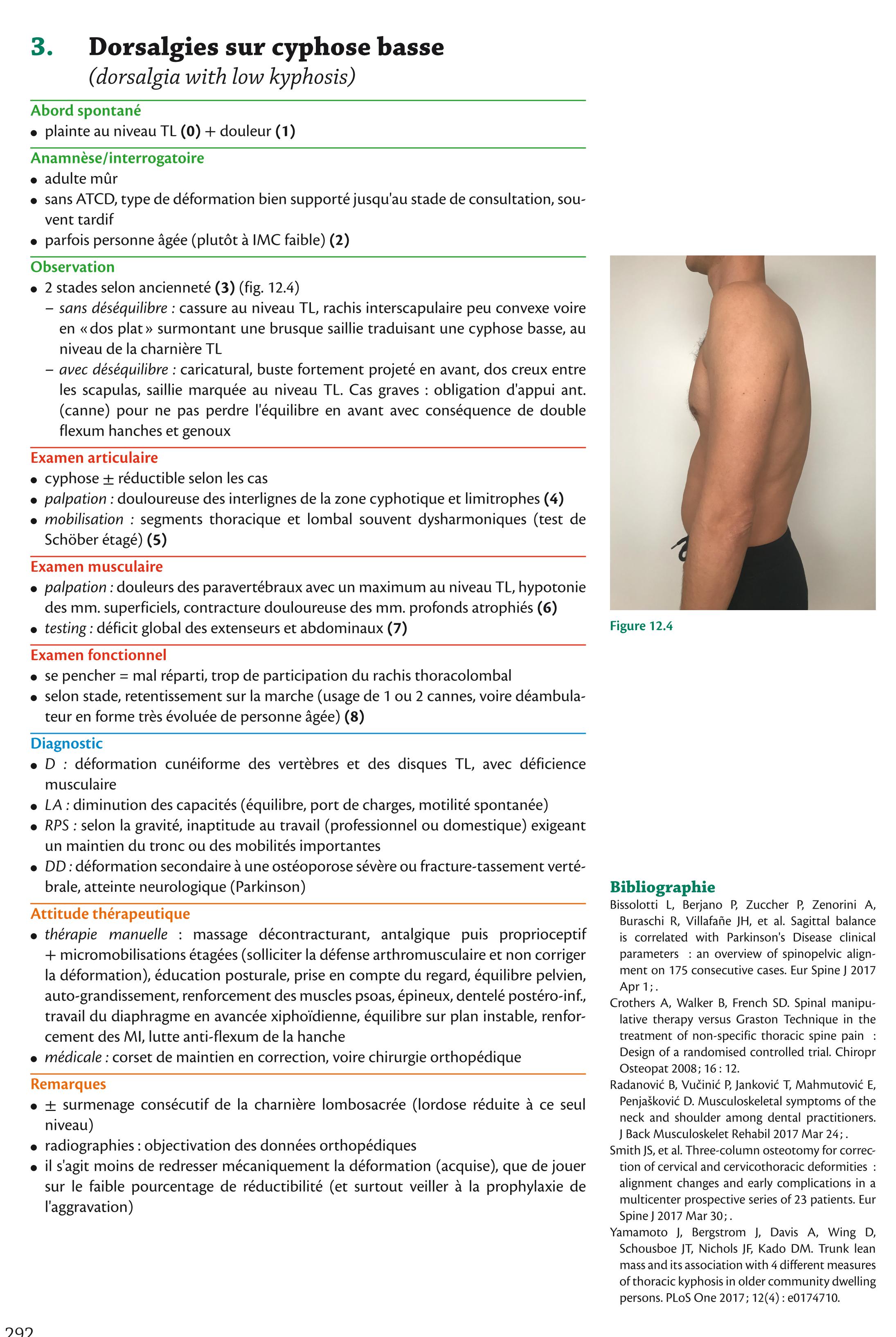 3. Dorsalgies sur cyphose basse