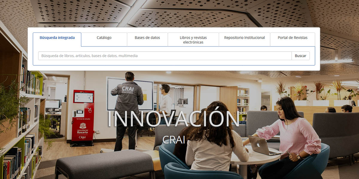 A screenshot from the university's Resource Center for Learning and Research (CRAI).