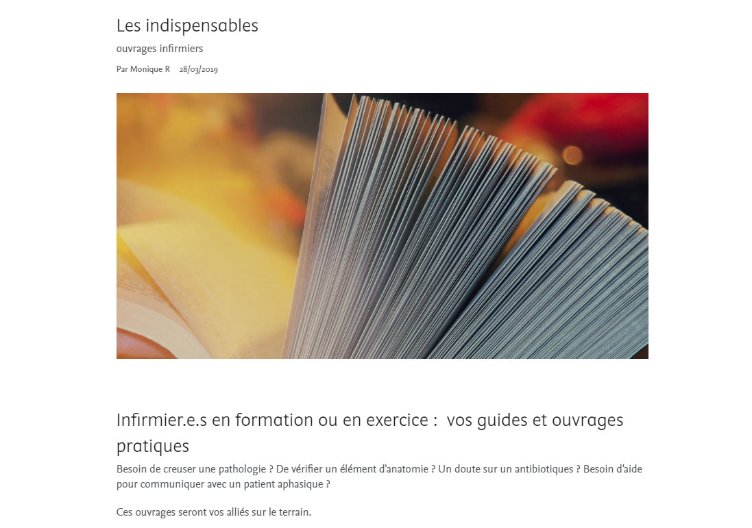 livres IFSI