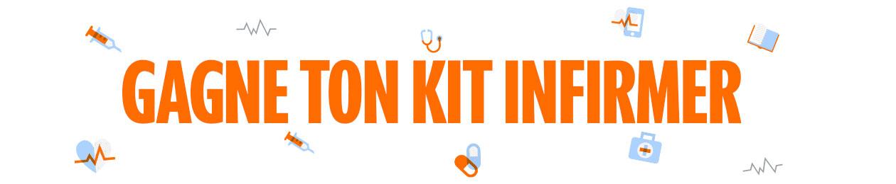 Bannière : gagne ton kit infirmier