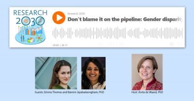 Research 2030 podcast: 'Don't blame it on the pipeline: Gender disparity in invited commentaries'