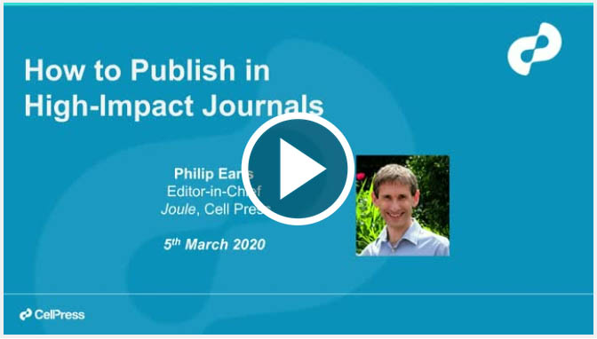 Free webinar: How to publish in high-impact journals
