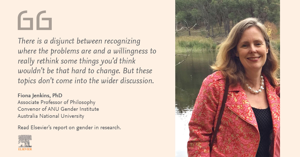 Fiona Jenkins quote on gender equity