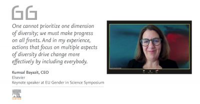 "Kumsal Bayazit at EU Gender in Science Symposium: "" We must make progress across all dimensions of diversity."""