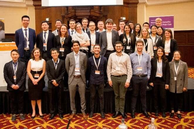The 2019 finalists of the Reaxys PhD Prize in Amsterdam.