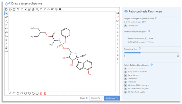 The computer-aided retrosynthesis