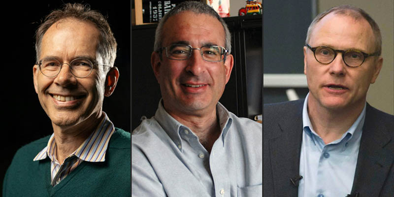 Half of the Economics prize was awarded jointly to Guido W Imbens and Joshua D Angrist and the other half to David Card. (Photos: ANP)