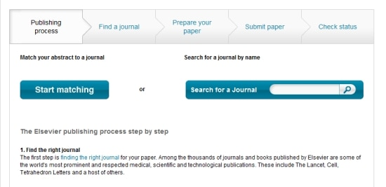 The new Journal Finder tool on Authors' Home