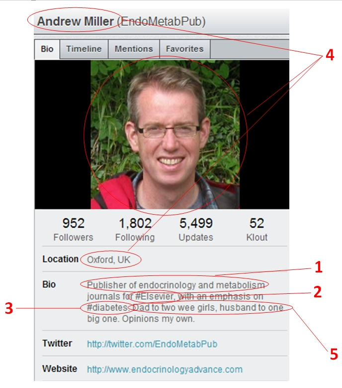 Figure 2. Example of a Twitter profile
