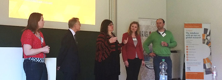From left, Andrea O´Brien, Dr. William Summerskill, Emilie Marcus, PhD; Helena Cousijn, PhD; Hans Zijlstra.