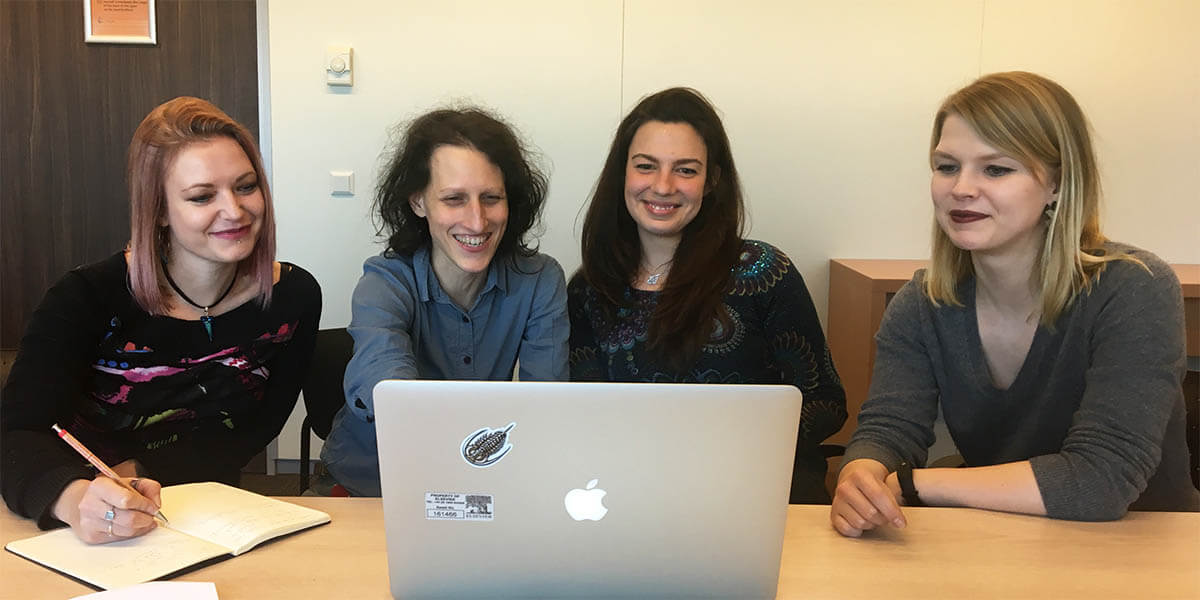 The user experience specialists on Elsevier's SciVal team (left to right): Anne-Sophie Muller, Simone