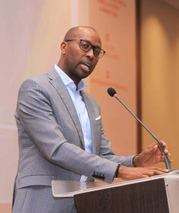Amref Health Africa's Group CEO Githinji Gitahi speaks at the Africa Health Agenda International Conference 2017 in Nairobi, Kenya.