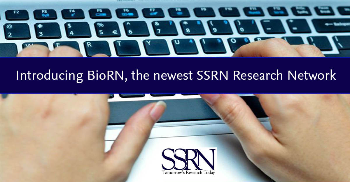 SSRN launches a network dedicated to biology: BioRN