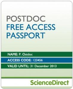 Post-doc Free Access Passport