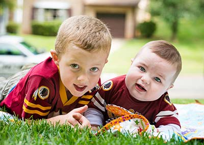 Mary Craige's sons, Liam and Gavin (Photo by Jim Craige)