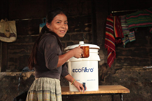 The second prize winner was Ecofiltro, a social enterprise company working to give thousands of families in Guatemala new ceramic disk filters that remove bacteria and other harmful agents from potable water.