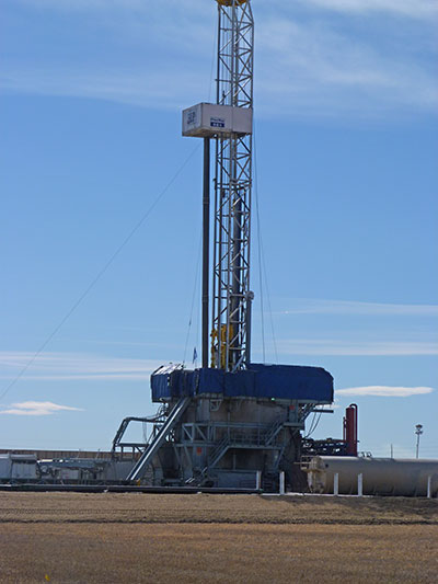 A fracking well in Colorado (Photo courtesy of Dr. Michael Thurman)
