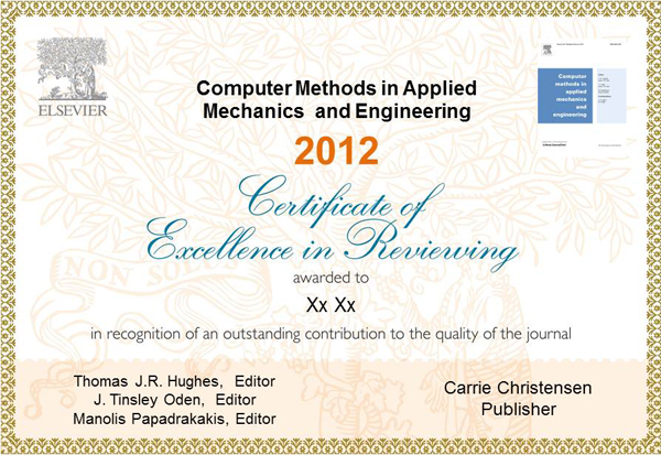 Certificate Excellence in Reviewing Certificate