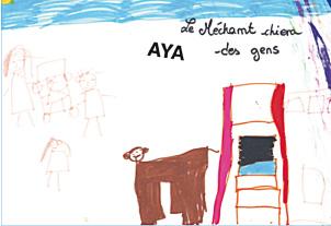 La mort déssinée par les enfants - Dessin d'Aya